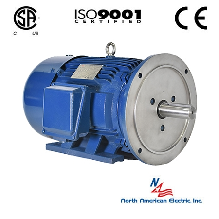20 hp 256td electric motor 3600 rpm 3 phase 208 230 460 for Totally enclosed fan cooled motor