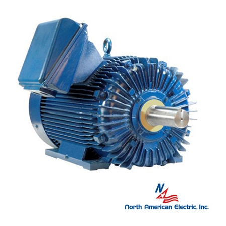 350hp 587uz electric motor 1200 rpm 3 phase 460 totally for Totally enclosed fan cooled motor