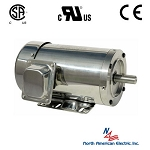 2 hp 56C stainless steel electric motor 3 phase 3600 rpm 208-230/460 totally enclosed with base