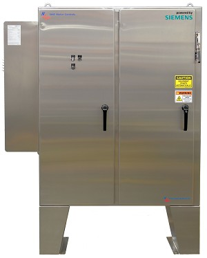200 HP Variable Frequency Drive Panel 460 Volt NEMA 4X Stainless